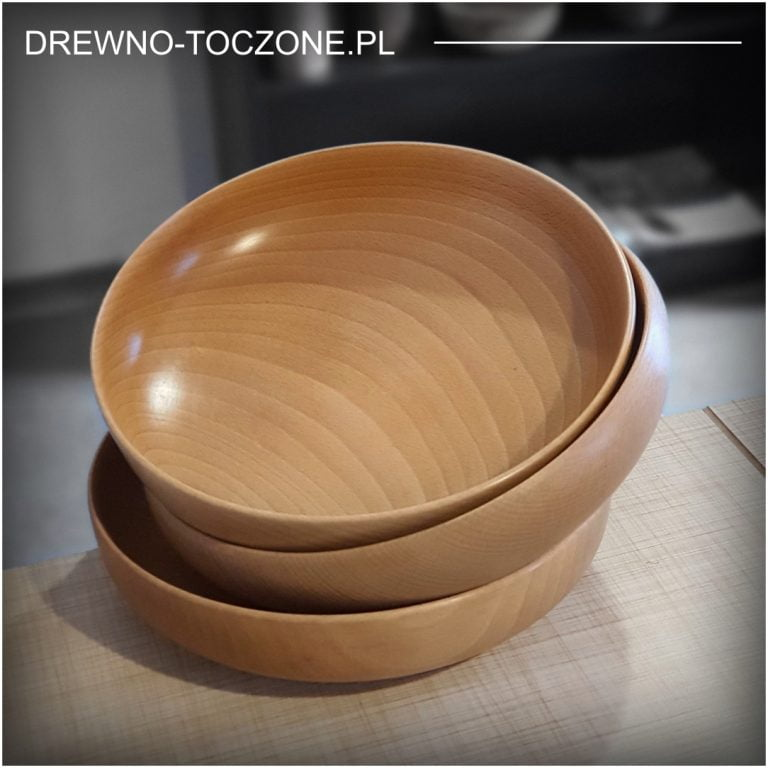 Naturalne miski drewniane